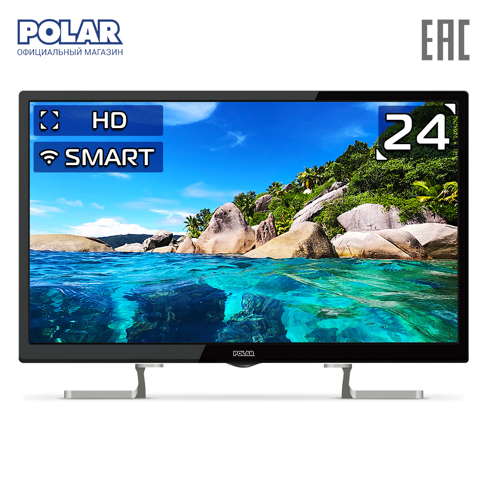Televisión LED POLAR P24L51T2CSM electrónica de consumo equipos de Audio en casa Video Smart TV 30 pulgadas RFID 125KHZ o 13,56 MHZ, cerámica negra, anillo inteligente, desgaste para hombre o mujer