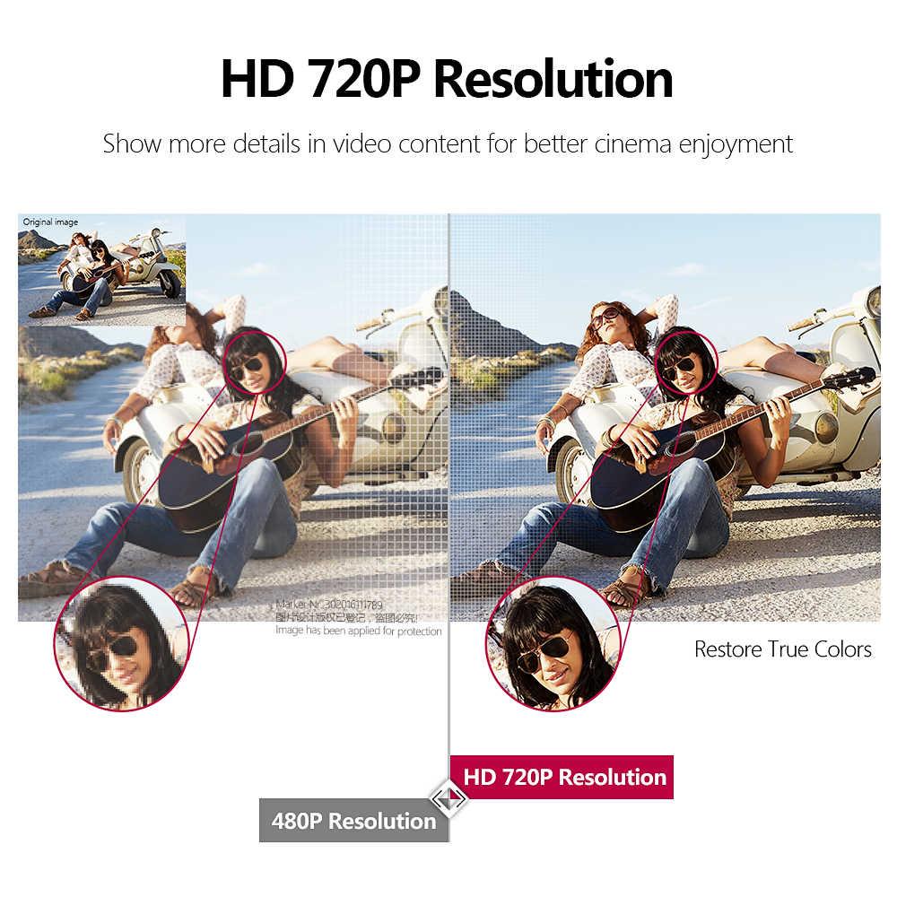 AUN 2020 najnowszy Mini projektor HD   AKEY7 Young 2800 lumenów głośnik hi-fi z bluetoothem kino domowe dla 1080P 3D Beamer Game Proyector