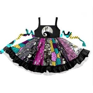 Летняя одежда для малышей 2020, милые праздничные платья принцессы без рукавов с рисунком для маленьких девочек