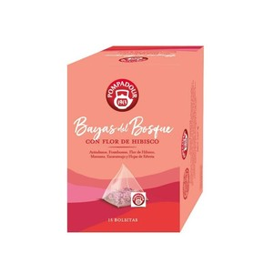 Forest Berries with hibiscus flower, Pompadour. 15 2 gr pyramid
