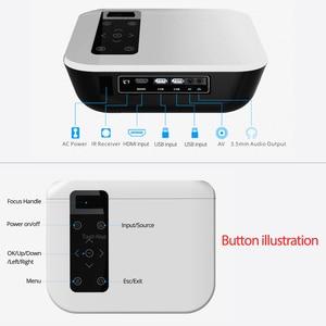 2020 T8 Native Full HD проектор 1920*1080P 4500 люмен, опционально T8-AD Android WIFI Proyector, 200 дюймов видео игра домашний кинотеатр
