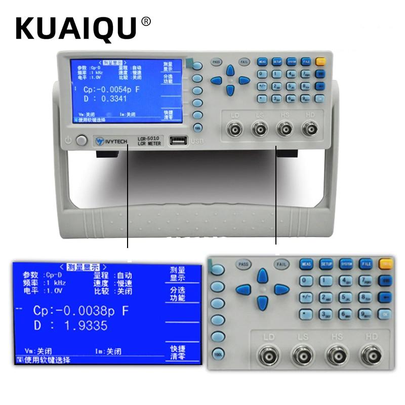US Digital LCR Meter AT2811 LCR Bridge Multimeter Tester Capacitance Measuring Instrument for Capacitance Resistance Impedance Inductance Test