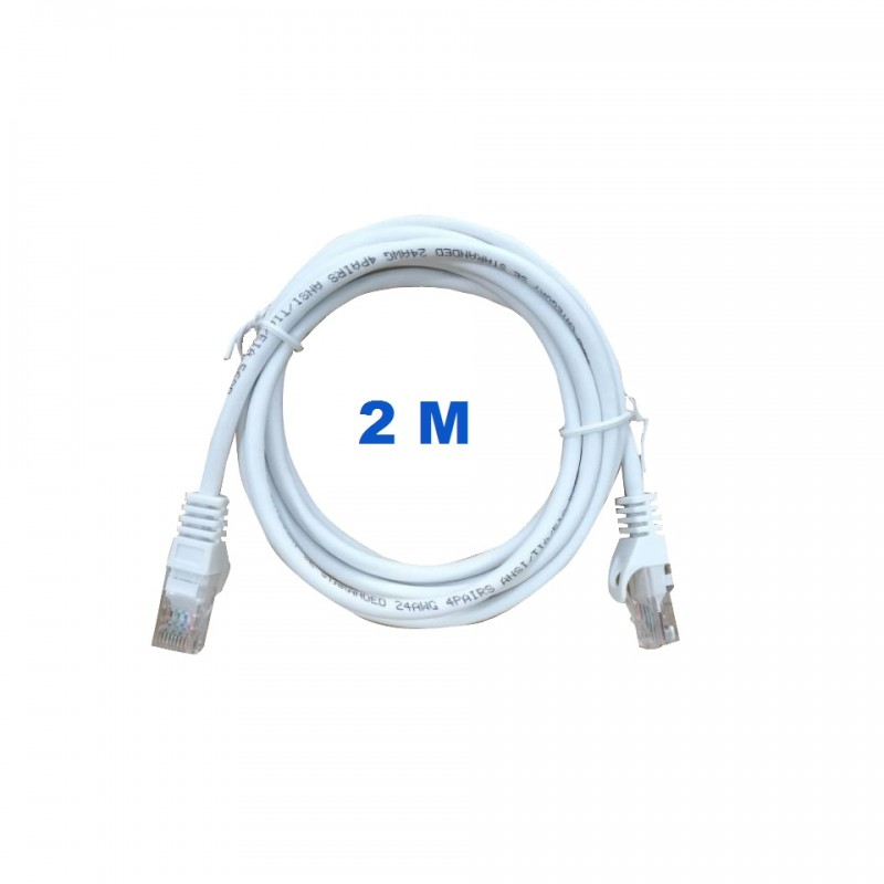 UTP Cord 2 Meters Poke With RJ45 Connectors Category 5E.
