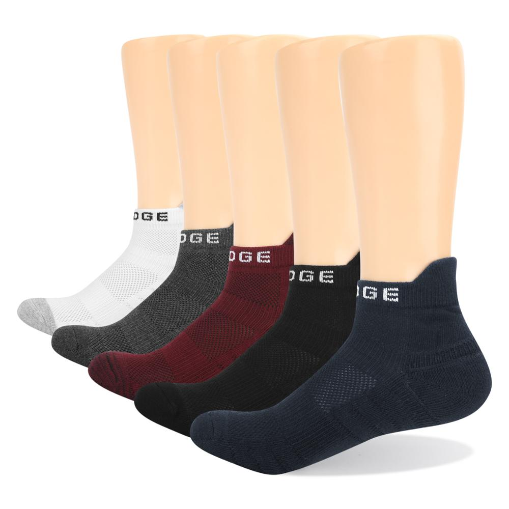 YUEDGE Brand 5 Pairs Men Women Cotton Cushion Breathable Cycling Comfort Short Casual Sports Running Ankle socks