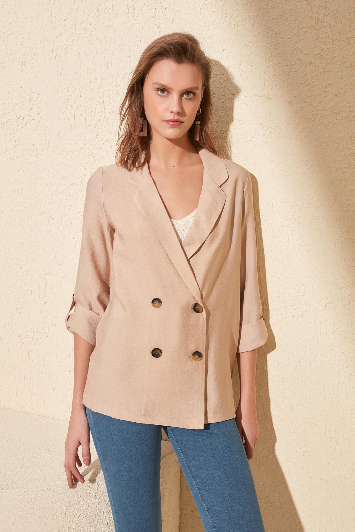 Trendyol Epaulets Jacket TWOSS20CE0065