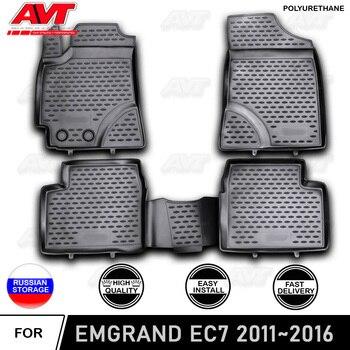Коврики для Geely Emgrand EC7 2011 ~ 2016, полиуретановые Нескользящие резиновые коврики для салона автомобиля, аксессуары для стайлинга, защита от гряз...