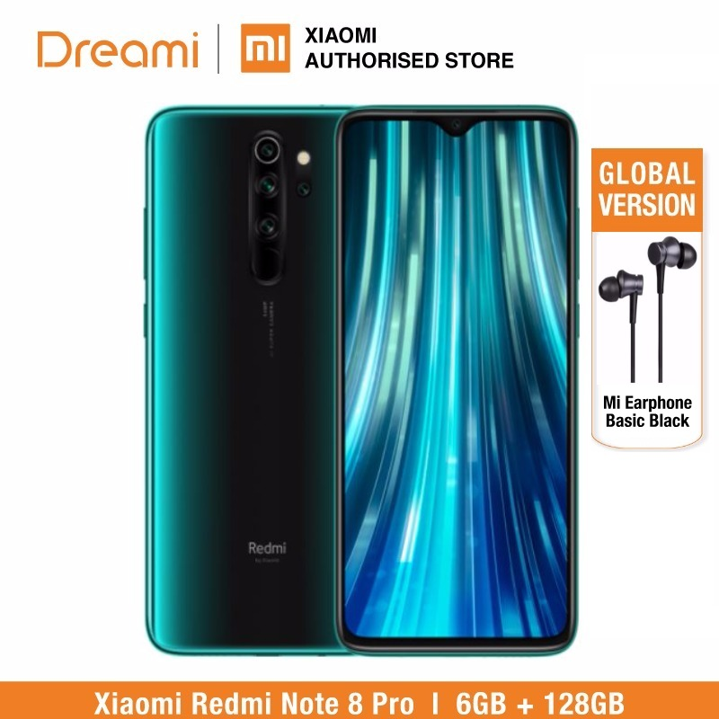 Global Version Xiaomi Redmi Note 8 PRO 128GB ROM 6GB RAM (Brand New And Sealed Box), Note8 Pro Smartphone Mobile