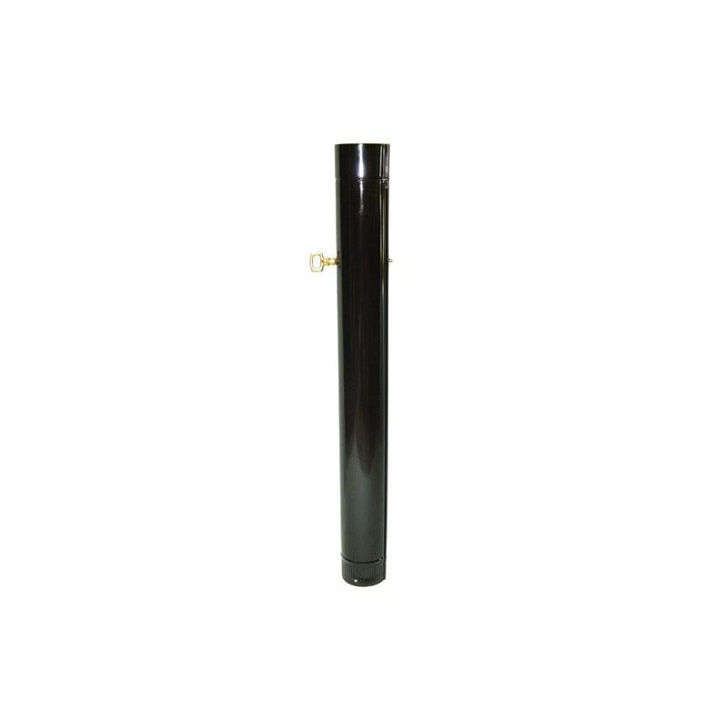 Tube Stove Black Vitrified 100mm. With Key 1 M.