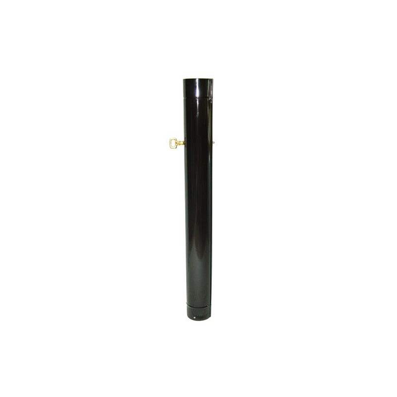 Tube Stove Black Vitrified 120mm. With Key 25 Cm.