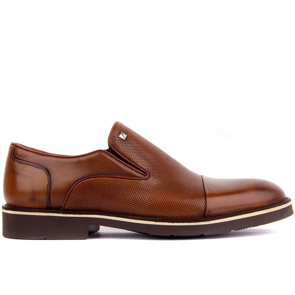Fosco-Tan Genuine Leather Men Casual Shoes Fashion Business Dress Men Shoes New Classic Leather Men'S Suits Shoes Fashion Slip On Oxfords