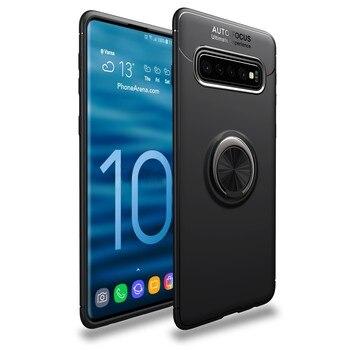 Funda Silicona Anillo para Samsung S20 FE Negro