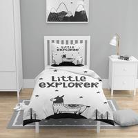 Else 4 sztuk czarny biały Explorer Lama Nordec 3D drukuj bawełna Satin Chidren dzieci poszewka na kołdrę zestaw poszewka na poduszkę prześcieradło w Kołdra od Dom i ogród na