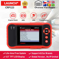 LAUNCH X431 CRP123 OBD2 Automotive Scanner ABS SRS Airbag Transmission Engine Car Diagnostic Tool free update pk Creader vii+