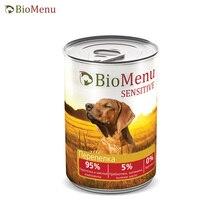 BioMenu SENSITIVE Консервы д/собак Перепелка 95%-МЯСО 410гр, 12 шт