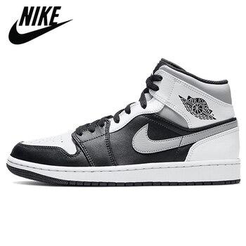 Authentic Original Nike Air Jordan Retro 1 Mid AJ1 TS Chicago Luncky Green Men Shoes Women Basketball Sneakers