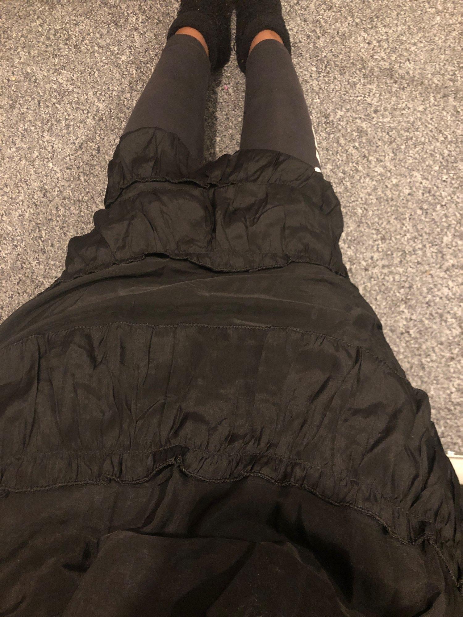 Asymmetrical Ruffle Maxi Skirt Punk Harajuku photo review