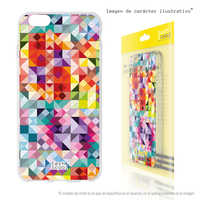 FunnyTech®Stand case for Huawei P9 Silicone Lite Minicuadros colors vers.1