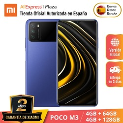 POCO M3 (64GB/128GB ROM con 4GB RAM, Qualcomm® Snapdragon™ 662, Android, Nuevo) [Teléfono Móvil Versión Global para España]