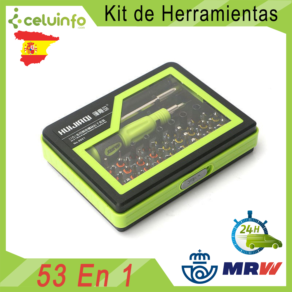 HUIJIAQI 8921 <font><b>kit</b></font> toolset precision magnetic 53 in <font><b>1</b></font> repair for mobile tags dial phone and Tablet, Shipping from Spain image