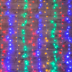 Garland Led Rain, glow with динамикой, transparent wire, 230 IN diodes