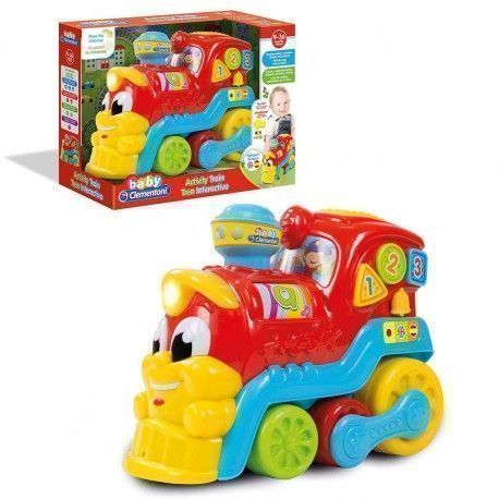 Clementoni Educational Train With Lights And Sounds, Multicolour