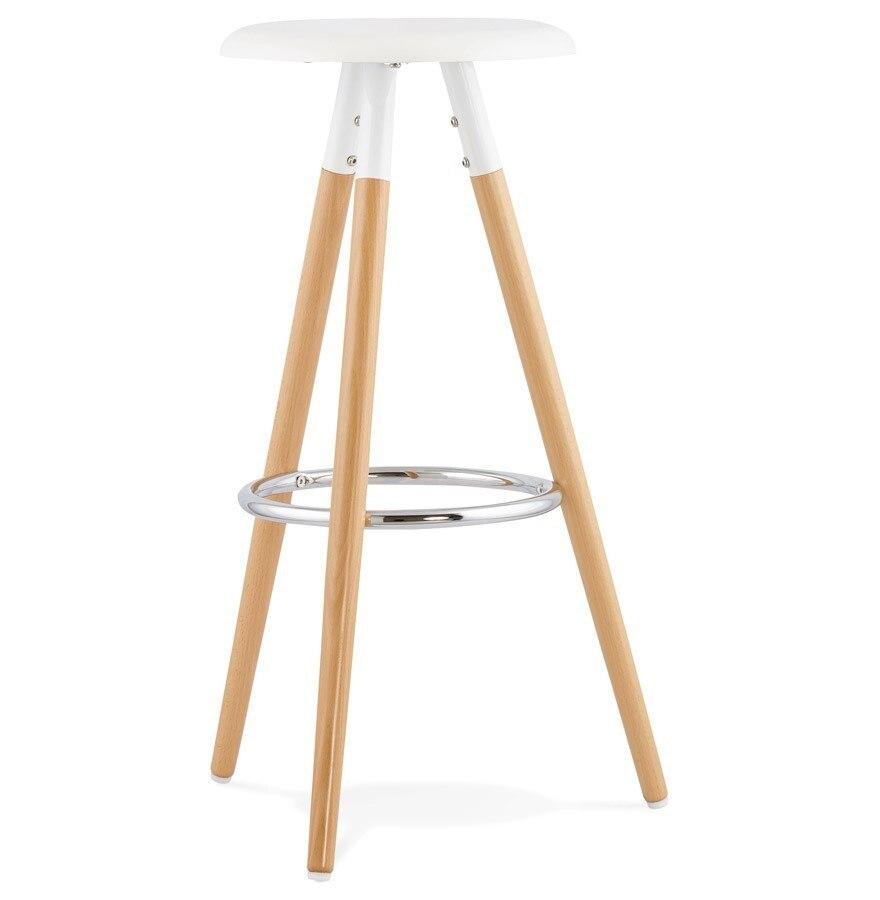 Stool OTILIO Wood White Seat