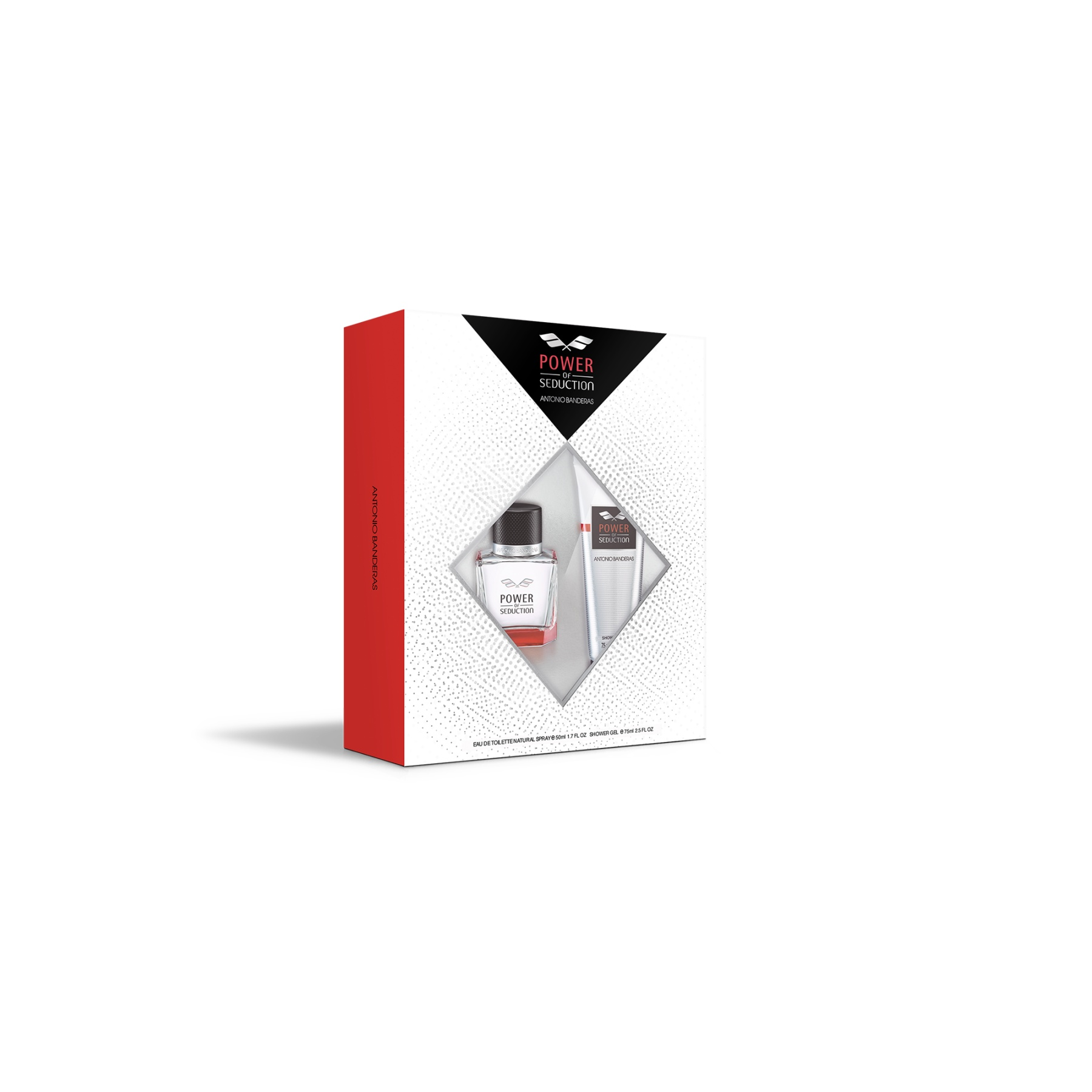 Perfume Antonio Banderas Power Of Seduction M Set Eau De Toilette Perfume 50 Ml + Shower Gel 75 Ml