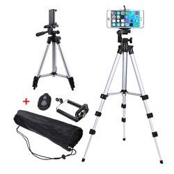 Profissional dobrável tripé para câmera titular do telefone inteligente 1/4 parafuso 360 graus suporte de cabeça vídeo alumínio com suporte telefone
