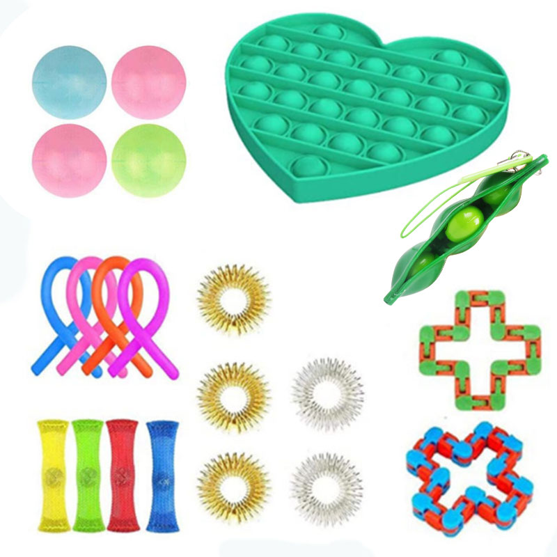 Fidget-Toys Anti-Stress-Toy-Set Mesh Marble Sensory Stretchy Strings Relief-Gift Girl img3