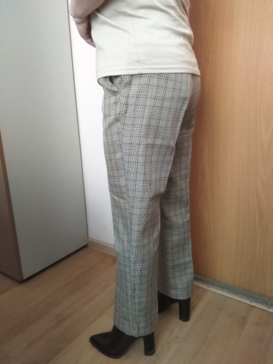 Bella Philosophy Spring Autumn Plaid Pants Women Casual High Waist Long Harem Pants Female Zipper Office Lady Pants Bottoms|office lady pants|ladies pantspants women casual - AliExpress