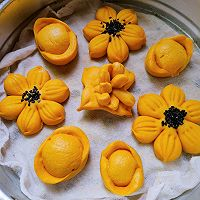 花开富贵南瓜馒头的做法图解10