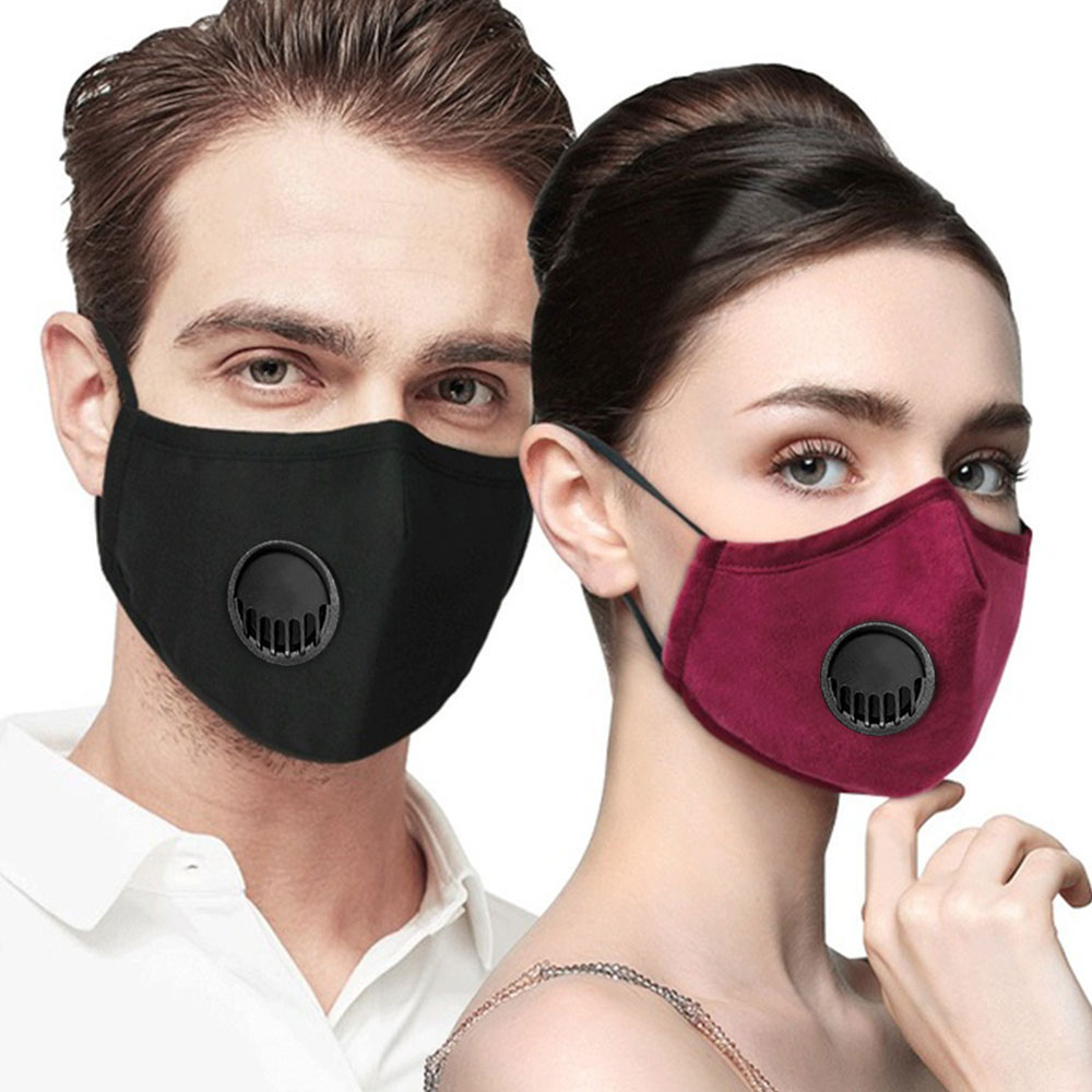 Anti Pollution PM2.5 Mouth Mask 5 Layers Dust Respirator With 2pcs Filter Washable Facemask Masks Cotton Mouth Muffle Cycling