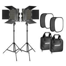 Video-Light U-Bracket Softbox-Kit: Stand Neewer 660 LED with 2/3200-5600k Dimmable CRI96