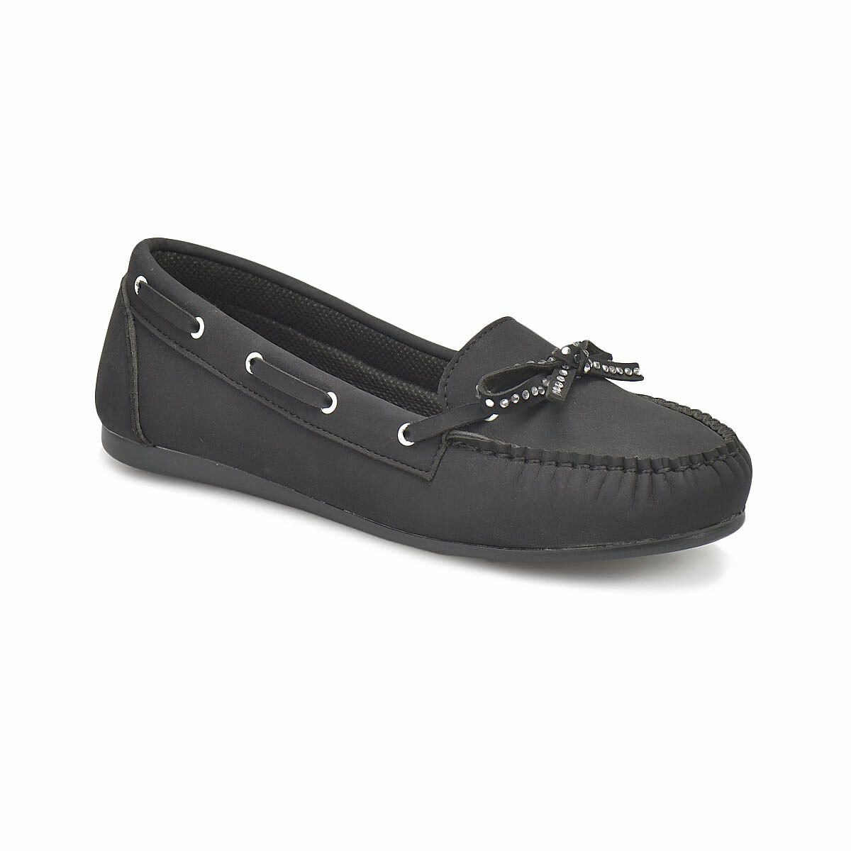 FLO DS18020 Black Women Loafer Shoes Miss F