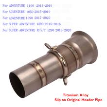 Pipe Titanium-Alloy Motorcycle-Exhaust-System 1290-Adventure for KTM Mid-Connect-Tube