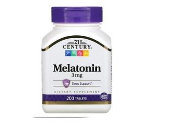 21st Century, Melatonin, 3 mg, 200 Tablets , Sleep Support Dietary Supplement Gluten Free Quality Guaranteed Laboratory Tested M 1