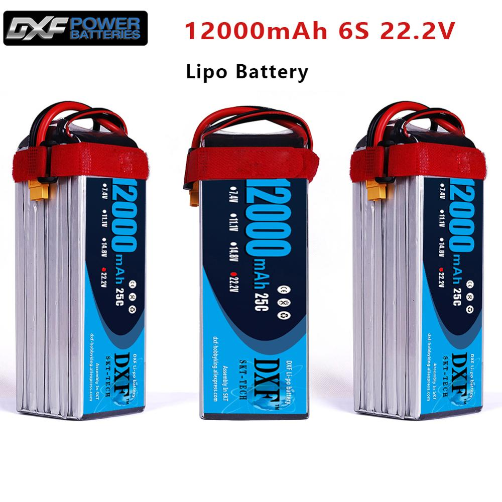 DXF <font><b>12000mAh</b></font> 22.2V 6S <font><b>LiPO</b></font> Battery Burst 15C for Big Load Multirotor FPV Drone Hexacopter Octocopter UAV image
