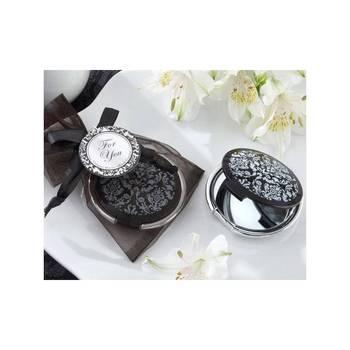 Espejo Black Glam en Bolsa Organza-desenreda, recuerdos y regalos para bodas, comuniones...