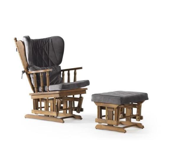 Rocking Gliding Chair w/ Sliding Ottoman 4