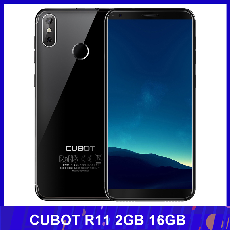 CUBOT R11 3G WCDMA Fingerprint All Screen 18:9 HD+ 2GB 16GB Mobile Phone 8-Core Front 8MP Rear 13+2MP Cameras SmartPhone(China)