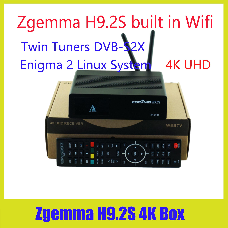 New 4K satellite tv receiver Engima2 zgemma h9 2h DVB S2X+
