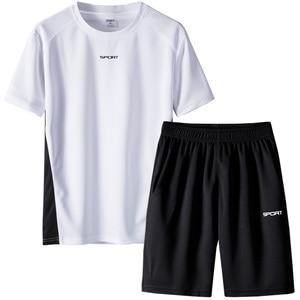 Image 5 - Respirant hommes survêtement été hommes 2 pièces ensemble à manches courtes t shirt de course t shirts Shorts ensemble de vêtements de sport hommes hommes ensemble de vêtements
