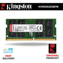 KINGSTON 3200MHz 16GB DDR4 NOTEBOOK RAM KVR32S22D8/16