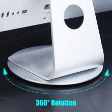 Подставка iMac для ПК, вращающийся на 360 градусов монитор, нескользящий диск, док-станция из алюминиевого сплава для ноутбука, телевизора Apple