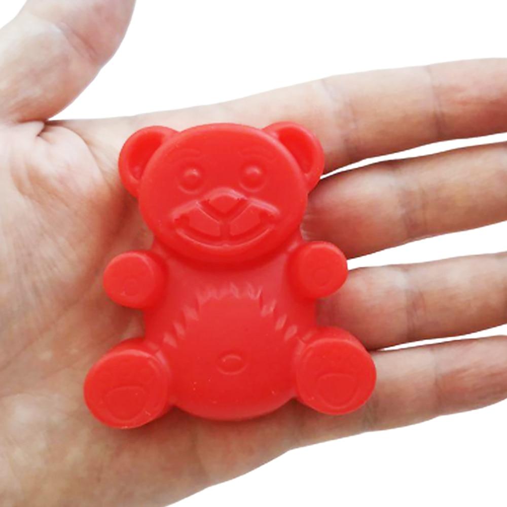 Игрушка мини Желейный Медведь Валера 6 см Fun Bear silicone toys