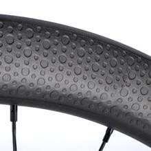 купить Cyclocross Disk Carbon Wheelset 700c Carbon Clincher 45mm Depth Dimple Carbon Bike Wheels Disc Brake Tubeless Bicycle Wheel дешево