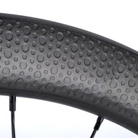 Cyclocross Disk Carbon Wheelset 700c Carbon Clincher 45mm Depth Dimple Carbon Bike Wheels Disc Brake Tubeless Bicycle Wheel