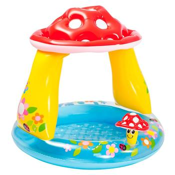 цена на Pool Inflatable para bebe multicolor mushroom shape 102x102x89 cm recommended infant best 1 and 3years FREE SHIPPING