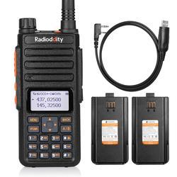Radio analógica de alta potencia de doble banda de 10W GA-510 de radiodity con 2 baterías de 2200mAh de largo alcance