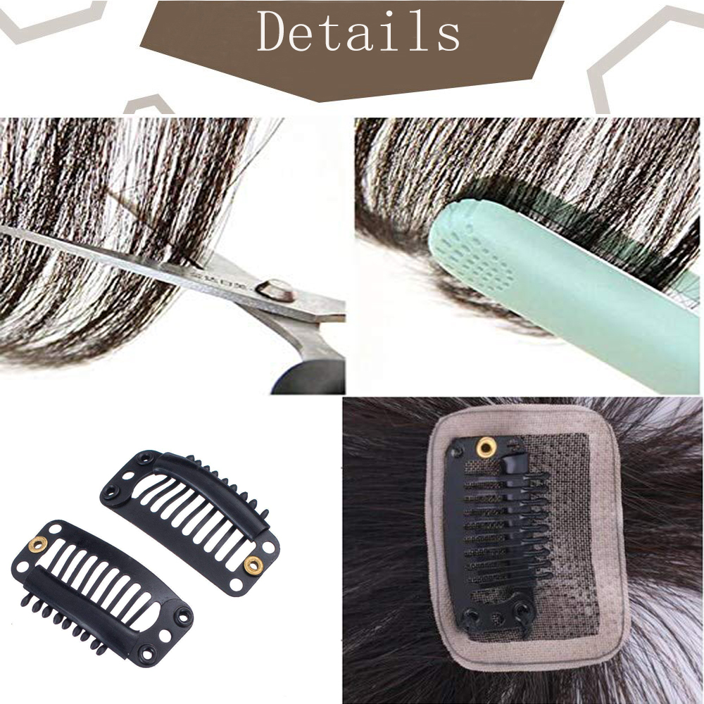 Image 4 - Moresoo Air Front Fringe Clip in Hair Extensions One Piece Machine Remy Straight Human Hair Accessories Without Hair TemplesBangs   -